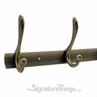 Elegant Robe Hook - Brass Hook Bar | Brass Hook Racks | Coat Hook Rack | Wall Mounted Coat Racks | Decorative Hook Racks | Tie Rack | Solid Brass Hook Racks | Modern Hook Rack | Hat and Coat Hooks | Brass Hooks | Brass Hardware | SignatureThings.com
