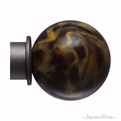 SignatureThings.com Brass Hardware Ball and Bell Shaped Finials