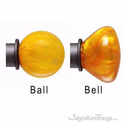 Ball and Bell Shaped Finials