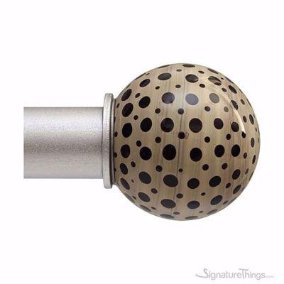 SignatureThings.com Brass Hardware Art Glass Curtain Rod Finials