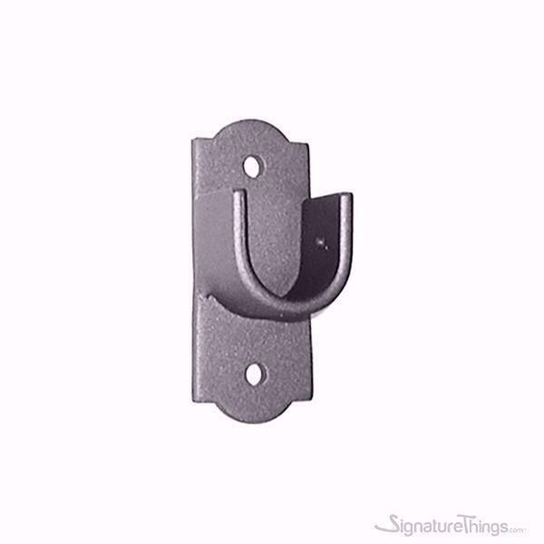 Iron Curtain Rod Socket Brackets - Deco Backplate, Curtain Rod Support, Closet Rod Brackets