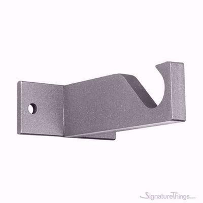 Block Iron  Brackets - Modern Curtain Rod Supports, Heavy Duty Window Treatment Hardware