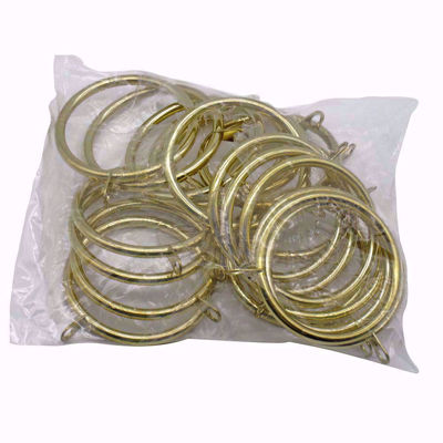 Metal Curtain Rings With Eyelet - Set of 20,   Custom Finished Drapery Rings, Shower Curtain Hooks, Window Treatment Hardware