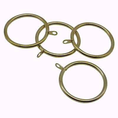 Metal Rings with Eyelet Set of 20 - Curtain Rings | Drapery Rings | Brass Curtain Rings | Shower Curtain Rings | Solid Brass Curtain Rings | Multiple Brass Finish Curtain Rings | Decorative Curtain Rings | Drapery Rings with Eyelet | Curtain Rings with eyelet | Metal Curtain Ring | Shower Curtain Hooks | Curtain Rings with Clips | Brass Hardware | SignatureThings.com