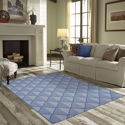 Diamond Trellis Rug - All Weather Indoor/Outdoor for Living Room, Bedroom, and Dining Room