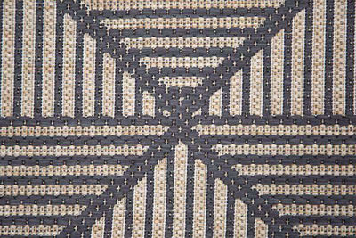SignatureThings.com Brass Hardware Diamond Trellis Rug - All Weather Indoor/Outdoor for Living Room, Bedroom, and Dining Room