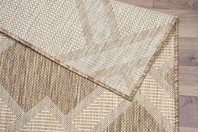 SignatureThings.com Brass Hardware Geo Zigzag - All Weather Indoor/Outdoor for Living Room, Bedroom, and Dining Room