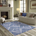 Oriental Motif Rug - All Weather Indoor/Outdoor for Living Room, Bedroom, and Dining Room
