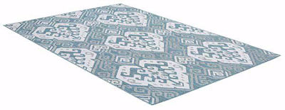 SignatureThings.com Brass Hardware Oriental Motif Rug - All Weather Indoor/Outdoor for Living Room, Bedroom, and Dining Room