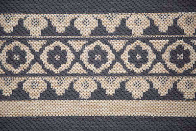 SignatureThings.com Brass Hardware Border Rug - All Weather Indoor/Outdoor for Living Room, Bedroom, and Dining Room