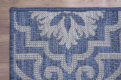 SignatureThings.com Brass Hardware Moro Tile Rug - All Weather Indoor/Outdoor for Living Room, Bedroom, and Dining Room