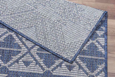 SignatureThings.com Brass Hardware Boho Chic Rug - All Weather Indoor/Outdoor for Living Room, Bedroom, and Dining Room