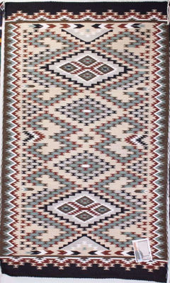 SignatureThings.com Brass Hardware Burntwater Navajo rug SK