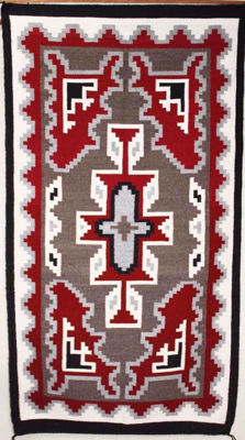 SignatureThings.com Brass Hardware Ganado Navajo Rug HG