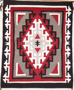 SignatureThings.com Brass Hardware Ganado Navajo Rug RD