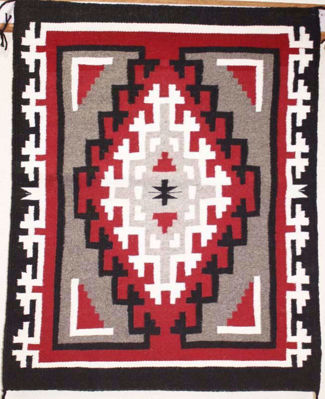 SignatureThings.com Brass Hardware Ganado Navajo Rug RD