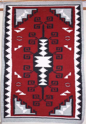 SignatureThings.com Brass Hardware Ganado Red Navajo Rug ANW