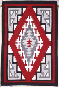 SignatureThings.com Brass Hardware Ganado Red Navajo Rug NH