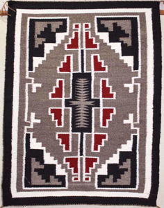SignatureThings.com Brass Hardware Klagetoh Navajo rug LB