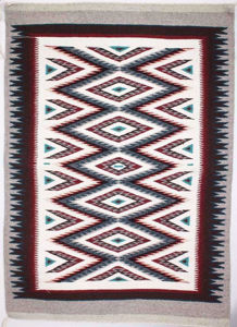 SignatureThings.com Brass Hardware Outline Navajo Rug SG