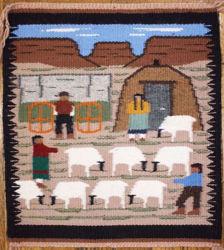 Pictorial Navajo Rug EB