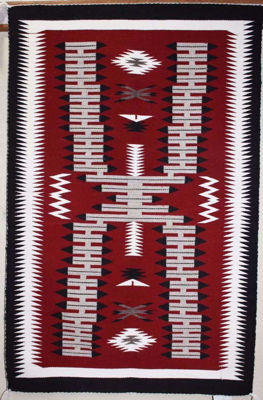 SignatureThings.com Brass Hardware Storm Navajo Rug DG