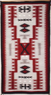SignatureThings.com Brass Hardware Storm Pattern Navajo Rug MB