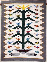 Tree of Life Navajo Bird Rug WJ
