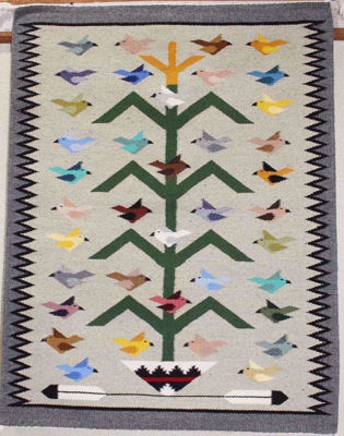 Tree of Life Navajo Rug MAB