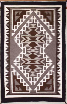 Two Grey Hills  Navajo Rug EY