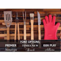 Personalized BBQ Set in Bamboo Case
