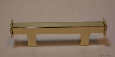 "Modern Pull Square - 1/2"", Solid Brass Door Handle"