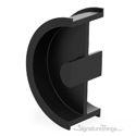 Stainless Steel Black Round Pocket Sliding Door Pull Handle