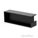 Rectangular Black Stainless Steel Square Edge Pocket Sliding Pocket Door Pull