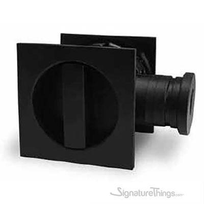 55mm Matte Black Kube SS Pocket Door Lock