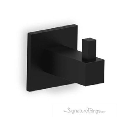 55mm Kube Hook - Stainless Steel Black Wall Hook
