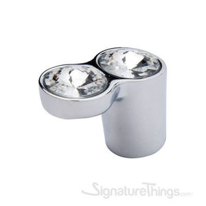 Two Crystals with Round Base Knob