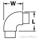90° Flush Radius Elbow Flush Fitting - Brass Railing Hardware