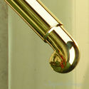 "Brass Scroll Finials For 1.5"" and 2"" OD Dia Tubing 