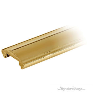 Solid Brass Cap Rail Extrusion