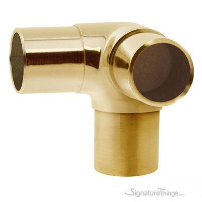 Flush Side Outlet Elbow | Brass Railing Hardware