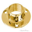"Brass Wall Flanges For 1"", 1.5"" OD Tubing - Brass Railing Hardware"