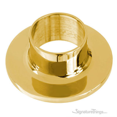 Polished Brass Undrilled Wall Flange - Railing Base Flanges