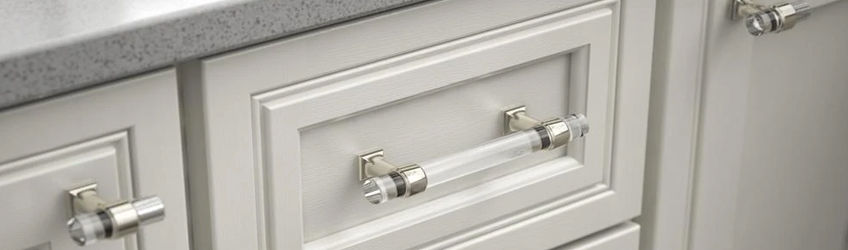 Brass Lucite Pulls & Knobs
