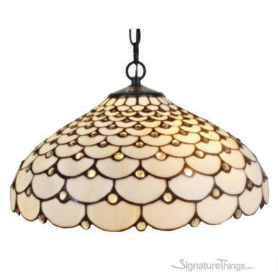 Tiffany Style Jeweled 2-light Hanging Lamp
