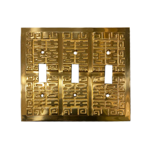 Oriental Triple Toggle Switch Plate