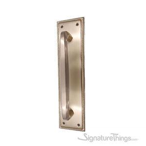 Roped Push Plate With Hexagon Bar Door Handle