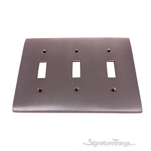 Modern Square Switch Plate Triple - Triple toggle switch plate