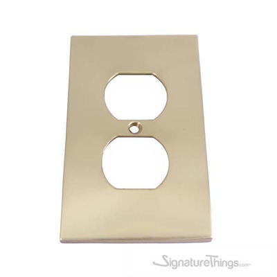 Modern Switch Plate (Receptacle) - Single duplex cover plate