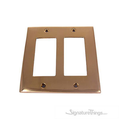 Modern Square Switch Plate Double Decora - Double Gang GFI Cover Plate